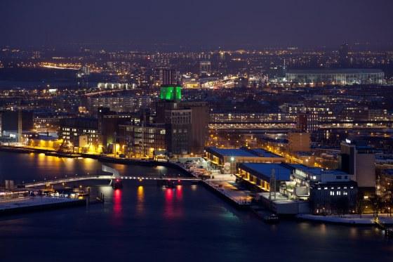 Rijnhavenbrug bij nacht