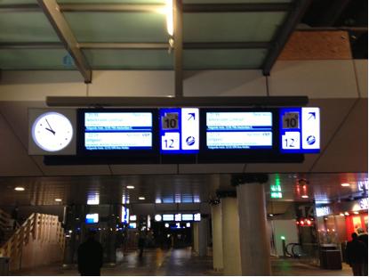 Borden op Rotterdam Centraal
