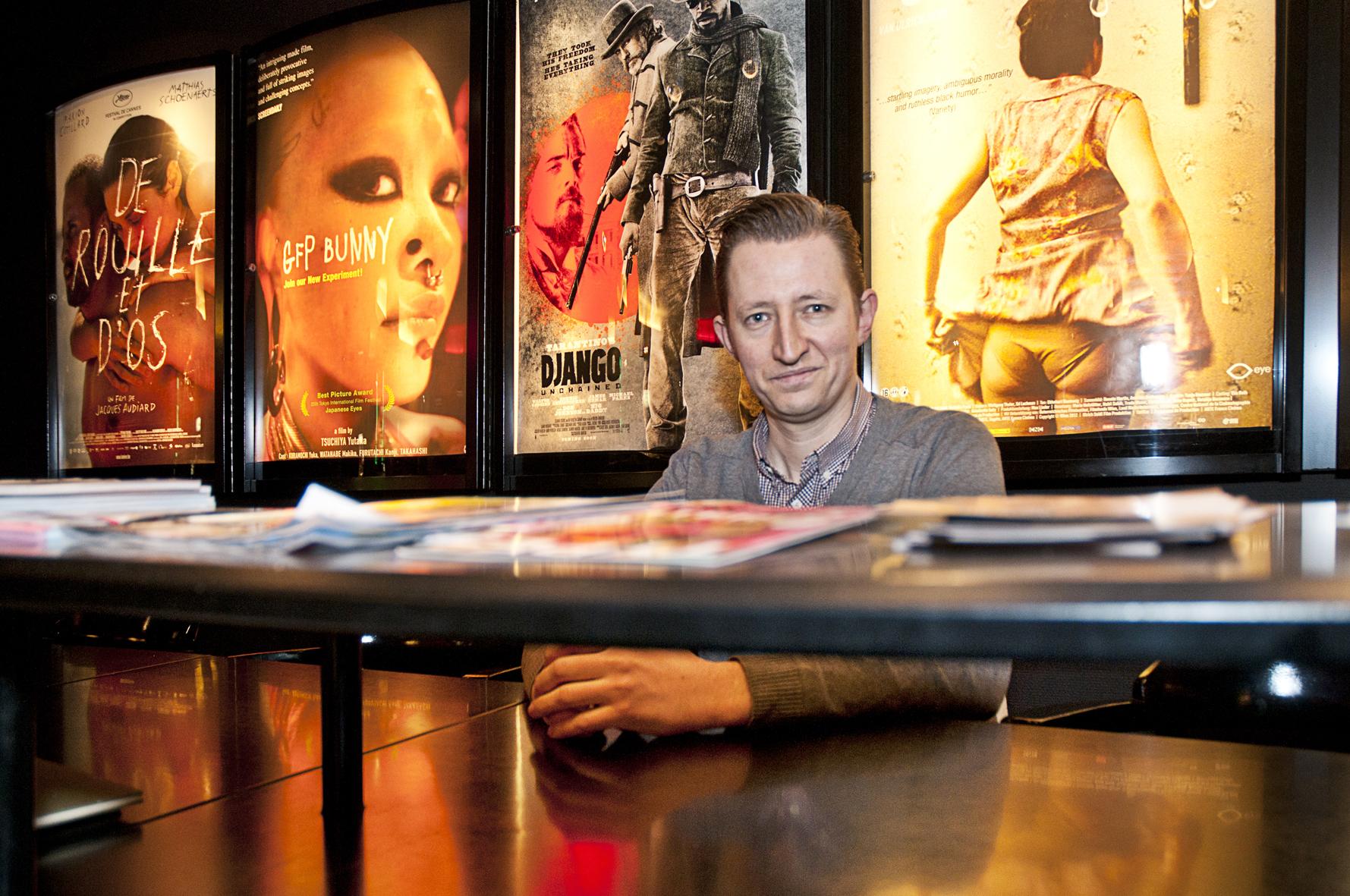 Dave Geensen, initiatiefnemer van Popkantoor. Foto: Menno Bouma
