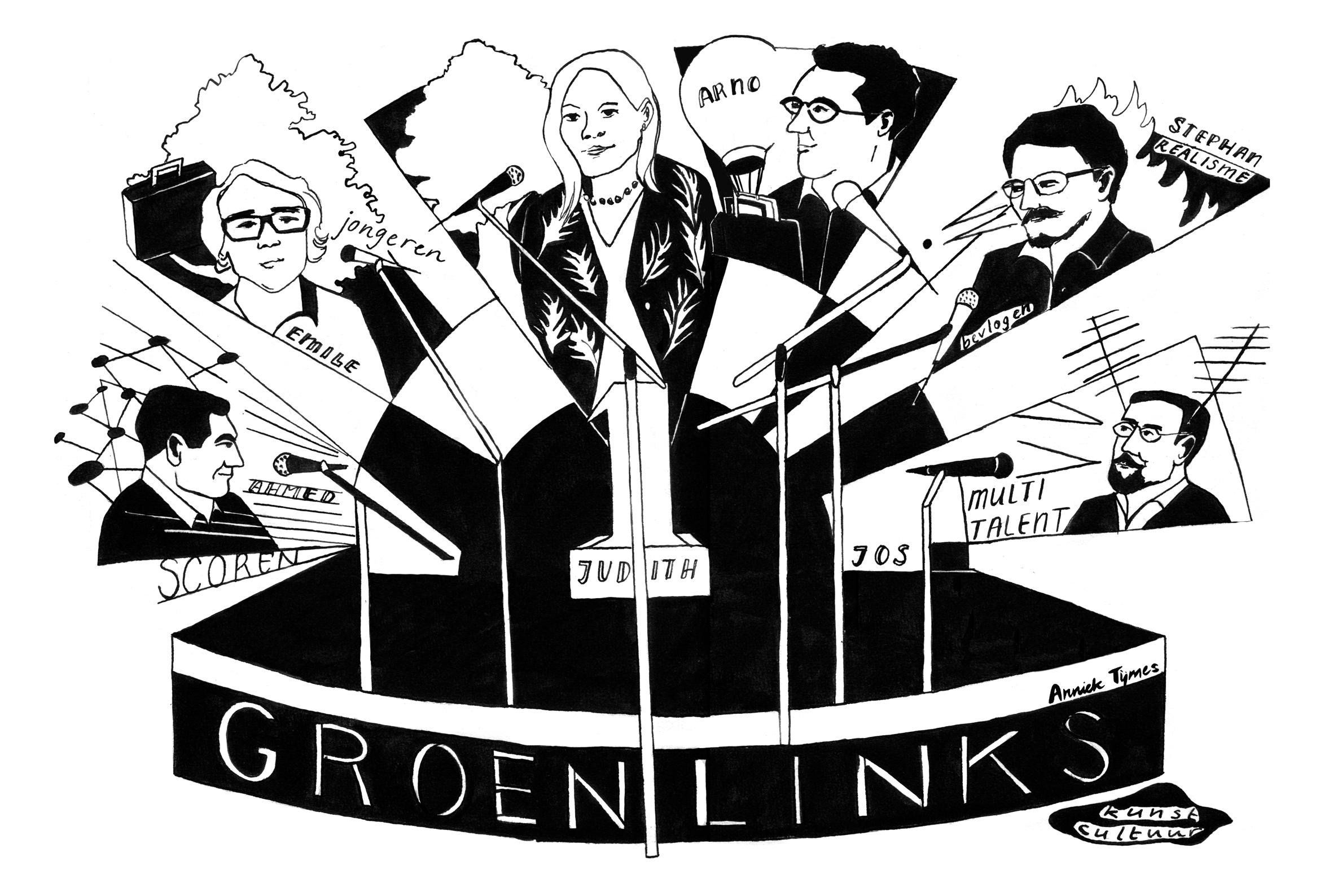 Zes maal GroenLinks