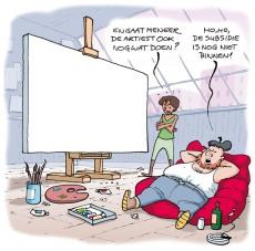 Cartoon in Leefbaars verkiezingsprogramma in 2010