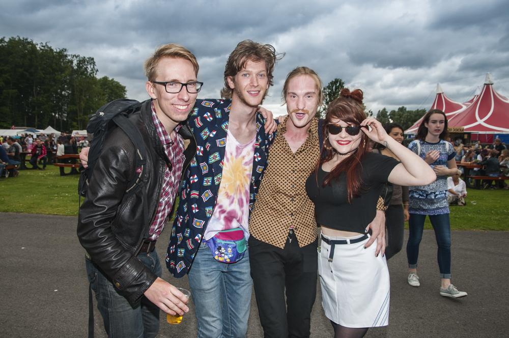 Jamie, Wouter, Melle en Marlinde