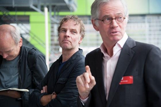Winy Maas en Hans Schröder (ontwikkelaar Provast)