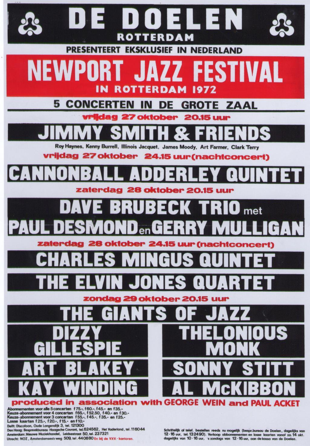 Advertentie Newport Jazz Festival 1972