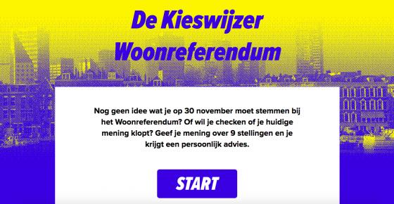 Screenshot Kieswijzer Woonreferendum