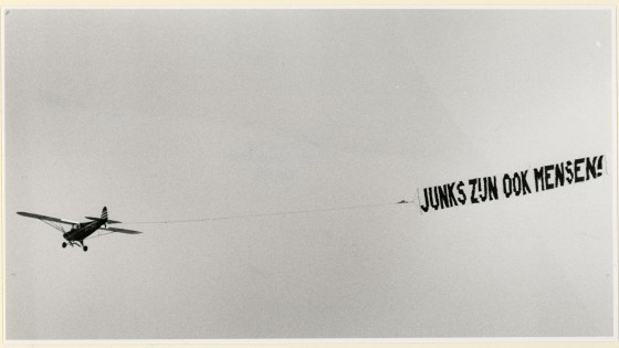 Vliegtuig met Banier, ca 1992